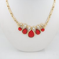 african american items - New Arrival High Quality Imitation Rose Red Zircon Pendant Necklace Earring Jewelry Set Leah Indonesia Wedding Four Piece Set Item