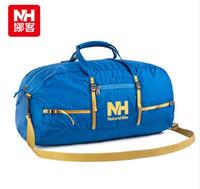 barrel bag gym - Nylon Foldable Bags Large Capacity Gym Bag Sports Bags Women Portable Single Shoulder Barrel Gym Totes Sport Bag