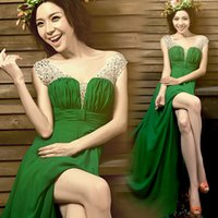 Wholesale A toast to the bride take wedding banquet dress new long bridesmaid dresses green cultivate one s morality costumes
