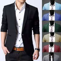 Wholesale Fashion Christmas Mens Casual Slim Fit One Button Suit Office Blazer Jacket Coat Top
