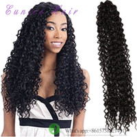 Wholesale 6 for one head freetress crochet braid water wave braids synthetic hair extensions curly Free tress water wave hair extension dreadlock