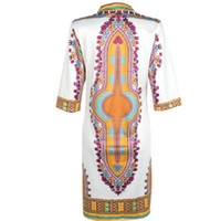 african folk art - 2016 New Summer Dress Sexy Mini African Tranditional Print Dashiki Dress Ladies Dresses Folk Art African Women Dress Clothing