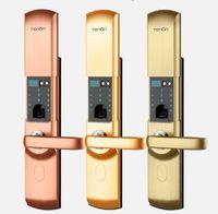 Wholesale T152 Biometric fingerprint locks technology fashion high quality intelligent modern door lock live fingerprint door lock