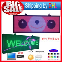 Wholesale P10 RGB full color outdoor waterproof led billboard programmable LED scrolling message signs for commercials and shop signs