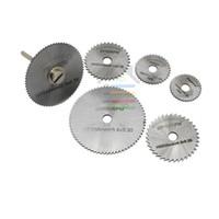 Wholesale PC HSS Rotary Circular Saw Blades Cutoff Cutting Discs quot mm Mandrel Tool For Dremel Rotary Tools order lt no track