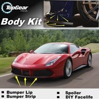 Wholesale Bumper Lip Lips For Ferrari GTB Front Skirt Deflector Spoiler For Car Tuning The Stig Recommend Body Kit Strip