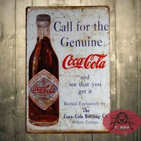 Wholesale The Coke Genuine Bottle Tin Metal Sign Decor Vintage Look but Brand NEW