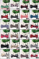 Wholesale Hot sale Men s Fashion Tuxedo business tripe Plaid Butterfly Wedding Party Bow tie Red Black White Green Bow Tie L101