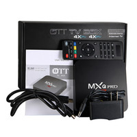 Wholesale MXQ PRO K Quad Core Android TV BOX Rk3229 With KODI Fully Loaded OTT IPTV Smart TV Boxes