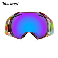 Wholesale Anti fog Ski Goggles Double Lens Protection Windproof Multifunction Riding Glasses Snowboard Goggles Snow Skiing Eyewear Glasses