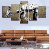 banks picture - 5 Panels Artwork Canvas Painting For Banks Wall Art Canvas Paintings For Living Room Wall Cuadros Decoracion Canvas Prints Photo