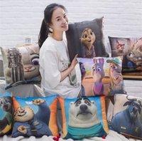 Wholesale zootopia plush Toys toy Pillow Cartoon printing Pillows Prettybaby Stuffed animals Cushion Nick Fox Judy Rabbit gift designs choose