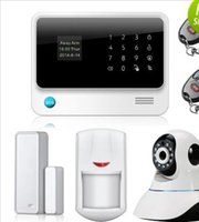 Wholesale English Spanish French Smart Home Wireless GPRS GSM WiFi Alarm System With Camera Android IOS APP