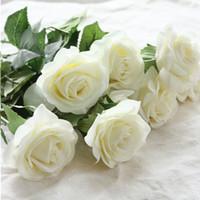 Wholesale 10pcs Touch Real Latex Rose Silk Artificial Flowers Bouquet Bridal Bridesmaid Hydrangeas Flowers Floral Wedding Party Home Decor
