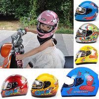 Wholesale ABS YEMA Children cartoon full face motorcycle helmet YM205 child electric bicycle helmets for boys and girls Four Seasons General Size S