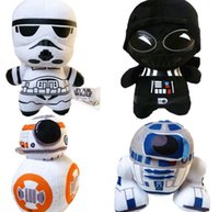 bb storm - Star Wars BB8 plush toys set New The Force Awaken BB Droid Robot R2D2 Darth Vador Storm Trooper stuff Doll toy for kid HJIA288