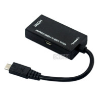 Wholesale Computer Cable MHL Micro USB pin to HDMI pin Adapter Mini portable devices MHL to HDMI DDA20H