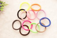 Wholesale Hot Sale Girls Womens Elastic Hair Rubber Bands Fashion Sports Novelty Rubber Band Ties Hair Rope Seamless Hairband Multi Colors