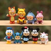 animal playset - 8pcs Kawaii Cartoon Fairy Garden Miniatures Terrarium Figurines Landscape Gnomes decoracion jardin Dollhouse Decor Kids Playset Baby Gifts