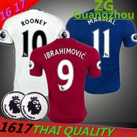 Wholesale best thai quality MancHESTER IBRAHIMOVIC Pogba Rugby jerseys AWAY BLUE ROONEY MEMPHIS MARTIAL unITED SHIRT