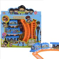 Wholesale 2016 creative electric rail car small train children s Puzzle Children s birthday gift toys