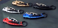 Cheap Camping Knife 7 Styles FOX Training Karambit Knife G10 HANDLE 5cr13mov BLADE Camo Blue Red Black Silver Outdoor Gear Gift Knife F823E