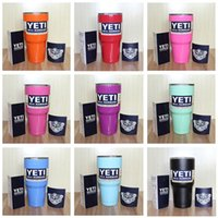 Wholesale 10 Colors Yeti Rambler Tumbler Cup oz Yeti Tumbler Stainless Steel Double Wall Vacuum Insulated Cup Travel Mug