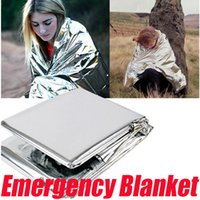 Wholesale Outdoor Camping Waterproof Emergency Blanket Foil Thermal First Aid Insulation Survival Rescue Blanket Disaster Response Tool
