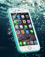 apple id phone support - 100 Waterproof phone case for Swim diving protection Phone Cover TPU Material Touch ID Fingerprit Support Phone accessories for Iphone S