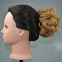 Wholesale Women Chignons Clip Bride Hair Bun Curly Hair Accessories Hand CM CM G Similar Human Hair Bun Flower Elastic Hair Chignon Hairpieces
