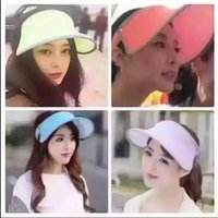 Wholesale Factory sell direct newest Summer girl s sun Hats fashion sunshade caps colorful casual visors