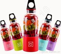 Wholesale Bingo Juicer Cup Portable ml Mixer USB Rechargeable Automatic Vegetable Fruit Bottle Blender Juice Maker Bottle Cup OOA617