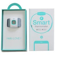 Wholesale 2pcs Baby Thermomet Child Children Fever Thermometer IFever Intelligent Thermometer Children Wear Smart Bluetooth Intelligent Monitoring