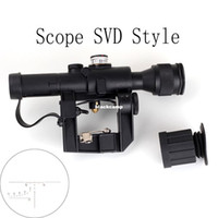ak types - Tactical Red Illuminated x24 PSO Type Scope for Dragonov SVD Sniper Rifle Series AK RifleScope