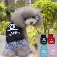 Wholesale Cheap pet clothes fashion printing dog vest color XL cotton pet apparel