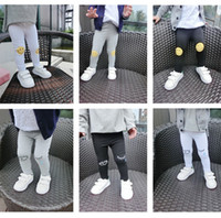 basic leggings - Girl s Boys Cotton Face Smile Eyelash Ankle Length Basic Leggings Baby Kids Autumn Trousers Children Pants Skinny Dress