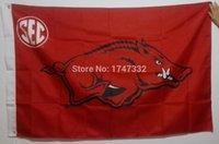 arkansas university - University of Arkansas Razorbacks USA NCAA Flag Hot Sell Goods X5FT X90CM Banner brass metal holes AR1