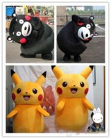 Wholesale 2016 High Quality Pikachu Mascot Costume Popular Kumamon Cartoon Character Costume For Adult Fancy Dress Party Suit