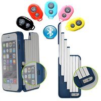 aluminium slides - Aluminium PC Plastic Slides smoothly With Handheld Selfie Stick Holder Hard Back Case Cover For iPhone S Plus inch
