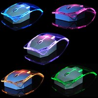 Wholesale New Fashion Transparent Wireless Mouse Silent Gamer Colorful LED Power Saving Glow Gaming Mouse Mice for Laptop Desktop