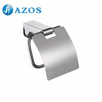 Wholesale AZOS Wall Mounted Toilet Paper Holders Bathroom Accessories Shower Hardware Components Chrome Polished Finish Silver Color GJKE3005