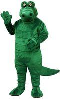 alligator costume - High Quality Green Albert Alligator Mascot Adult Costume Cartoon Crocodile Mascotte Fancy Dress Carnival Costumes Kits