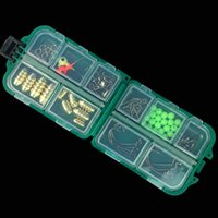 Rocher Ocean Lure Fishing Tackle Accessoires Combinez Kit Lead Beans Sinker Crochets Bloc multi-usages 83 Pieces Set For Texas Rig