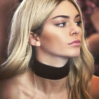 Wholesale European American Fasion Wide Black Cloth Collar Necklace Personality Elegant Torques Women s Chokers with OPP Bag