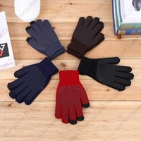 Wholesale New Winter Outdoor Gloves Adult Anti skid Riding Gloves Knitted Touch Screen Gloves Colors Cheap