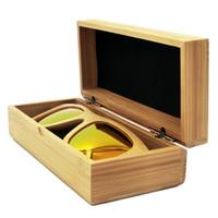 bamboo storage box - Handmade Glasses Case Sunglasses Protector Case Storage Holder Box Brand Designer Natural Bamboo Wood oculos de Packaging