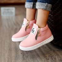 Wholesale Candy Color autumn spring children Shoes For Kids Boys Girls shoes PU Leather Fashion Children Boots Kinder Winter Shoes