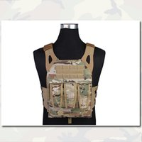 Wholesale NJPC Tactical Vest Jump Plate Carrier EMERSON Vest Airsoft Painball Wargame Multicam Genuine Fabric MC