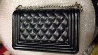 Wholesale AAKK Size High Quality Diamond Lattice Women Shoulder Le Boy Bag Classic Fashion Handbags Cc Flap Leather Bags With Chains