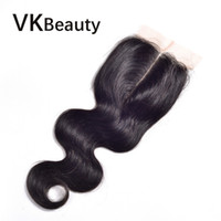 Wholesale 7A Virgin Brazilian Lace Frontal x4 quot Bleached Knots Virgin Frontal Piece Body Wave Full Lace Frontal Wavy